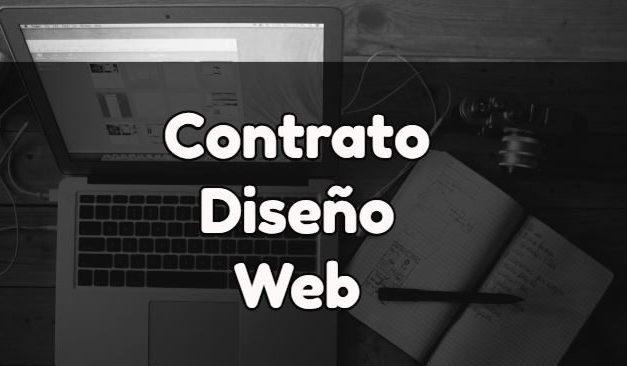 Redacción de contrato para el diseño de una web.
