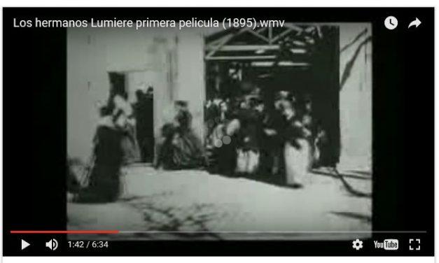Primera película de  Hermanos Lumiere.