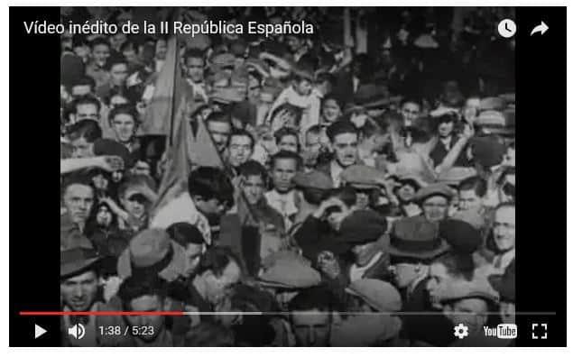 Vídeo:  Fin de la Monarquía e Inicio de la República Española, inédito.